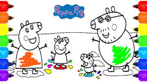 peppa pig coloring pages how to color peppa pig family u0026 nursery