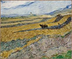 vincent van gogh museum of fine arts boston enclosed field with ploughman october 1889 vincent van gogh