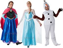 Adults Disney Frozen Fancy Dress Mens Womens Princess Fairytale