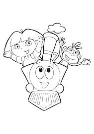dora coloring pages to print cartoon coloring pages of