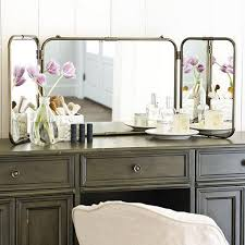 Tri Fold Bathroom Mirror by Tri Fold Dressing Mirror Ikea Three Way Wall Mount About Square