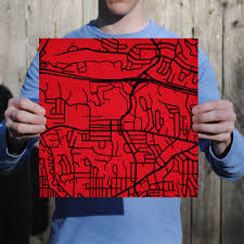 San Diego State University Map by San Diego State University Campus Map Art City Prints