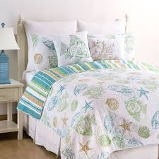 Seashell Queen Comforter Set Coastal Bedding Comforters Quilts Bedspreads Touch Of Class