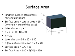8 7 b lateral u0026 total surface area rectangular triangular prisms