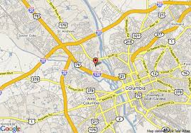 map of columbia south carolina map of homewood suites by columbia sc columbia