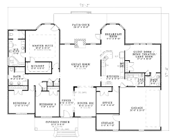 southern style house plan 4 beds 3 00 baths 2675 sq ft plan 17 617