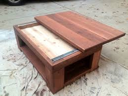 Plans For Building A Wood Coffee Table by Pine Top Coffee Table With Sliding Top Reveals A Hidden Storage