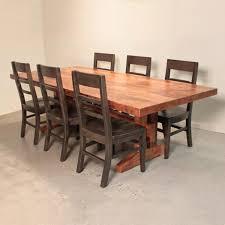 Maple Craftsman Trestle Dining Table  The Urban Settler - Trestle kitchen table
