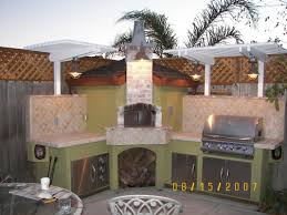 outdoor kitchen decoration using light green outdoor kitchen