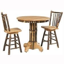 rustic pub table and chairs rustic pub table home wood furniture