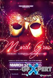 free elegant masquerade ball flyer template download