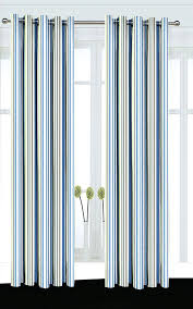 Blue And Striped Curtains White And Blue Striped Curtains Rabbitgirl Me