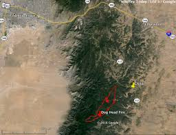 Show Low Arizona Map by Dog Head Fire Continues To Spread To The East Near Chilili New