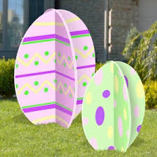 Easter Egg Yard Decorations by 11 2309 3 D Giant Slotted Easter Eggs Woodworking Plan Set 2