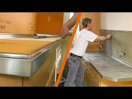 carreler une cuisine schlüter kerdi board plan de travail de cuisine carrelé