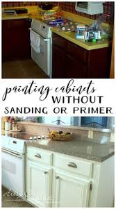 Annie Sloan Kitchen Cabinet Makeover Learn To Paint A Cream Cabinet With Glaze Cream Kitchen Cabinets
