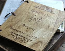 vintage wedding guest book rustic woodburned wedding items by lazylightningart on etsy