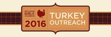 thanksgiving church bulletin turkey outreach mclean bible church