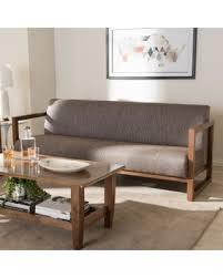 Spring Special Baxton Studio Philomela MidCentury Modern Grey - Sofa mid century modern