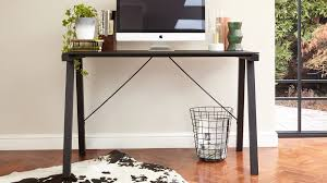 Glass Desk Table Black Powder Coated And Glass Desk Home Office Uk