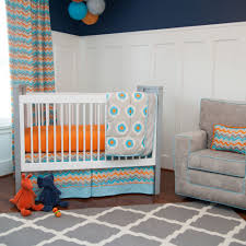 blue and orange bedding white wooden cradle with orange bedding plus gray blue blanket