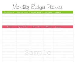 items similar to monthly budget planner pdf printable on etsy