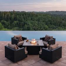 Agio 7 Piece Patio Dining Set - fire pits u0026 chat sets costco