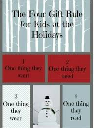 4 gifts for something you want something you need