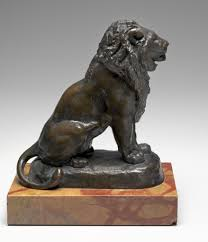 barye lion sculpture antoine louis barye seated lion model c 1846 cast after 1870