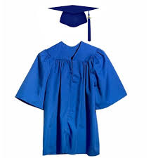 kindergarten cap and gown matte royal blue kindergarten graduation cap gown suppliers