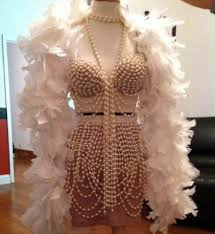 1920s pearl burlesque bra and skirt by bexinthecity1 on etsy