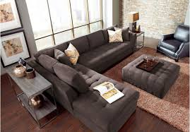 Sofa Table Rooms To Go by Reina Gray Leather 4 Pc Sectional 1 499 00 173 5w X 83 5d X