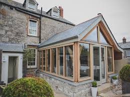 building a sunroom carpenter oak cornwall complete build an oak sun room for a