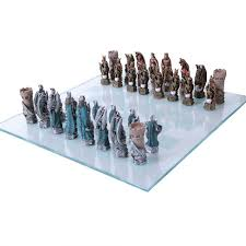 king arthur color chess set with glass board 3 inch high chess