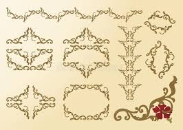 elements ornaments floral frame rococo stock images image 9981264