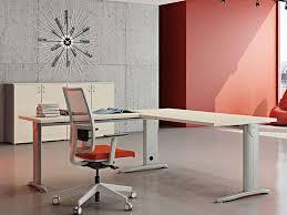 l shaped melamine faced chipboard workstation desk compact l