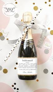 bridesmaid asking gifts custom bridesmaid gift bridesmaid wine bottle label
