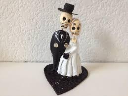 black till death do us part dia de los muertos cake topper