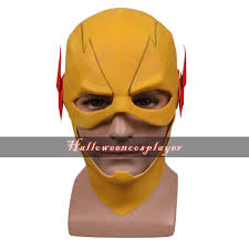 flash 3 tv reverse flash mask cosplay barry allen yellow mask