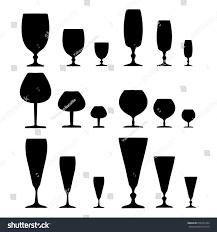wine glass silhouette wine glass black set on white stock vector 656335324 shutterstock