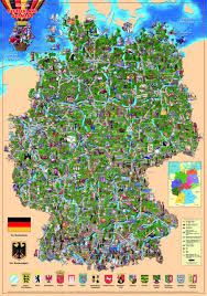 Wurzburg Germany Map by An Illustrated Map Of Germany Maps Travel Places Etc