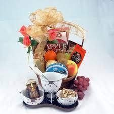 Gourmet Gift Basket Fruit U0026 Chocolate Fondue For Two Gourmet Gift Basket Fruit