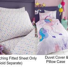 Unicorn Bed Set Unicorn Selfie Single Duvet Quilt Cover Children