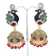 punjabi jhumka earrings gold moorini jhumka indian earrings indian earrings gold