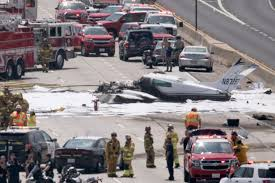 update passengers in stable condition plane crash on the 405