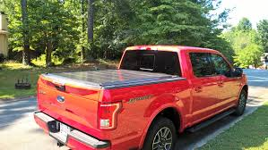 paragon retractable aluminum tonneau cover clamp mount option retractable tonneau cover for my 2015 f 150 super crew with a 5 5ft bed since the truck is a race red with the sport appearance package so i thought