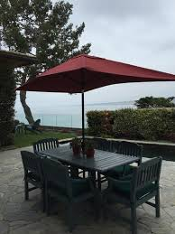 10 Foot Patio Umbrella Hton Bay 10 Ft X 6 Ft Aluminum Patio Umbrella In Chili With