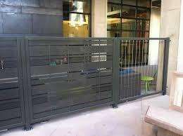 corrugated metal fence gate home u0026 gardens geek