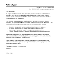 exle general cover letter best salesperson cover letter exles livecareer