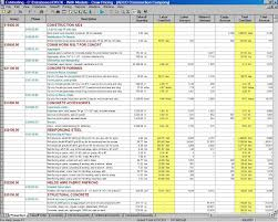 Building Budget Spreadsheet by Building Construction Estimate Spreadsheet Excel Download